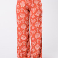 Tied To A Shallow Heart Pants - Astara Spice