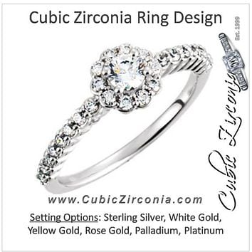 Cubic Zirconia Engagement Ring- The Lorilee