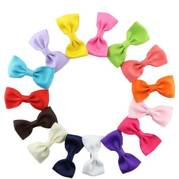 15PCS/pack kids Girl None Slip Bow Tie Hairpins Alligator  Boutique Hair Clip Mixed  barrettes hair accessory