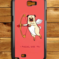 I Pug Love Samsung Galaxy Note 2 Case