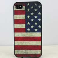 Retro The Old Glory  Hard Case Cover for Apple iPhone 4gs Case, iPhone 4s Case, iPhone 4 Hard Case