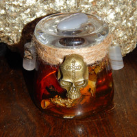 Dark Arts Skull Honey Jar - Honey Jar Spell - Curse Spell - Hex Spell - Hoodoo Spell Jar - Witch Jar - Magickal Curio - Curse Reverse -Jinx