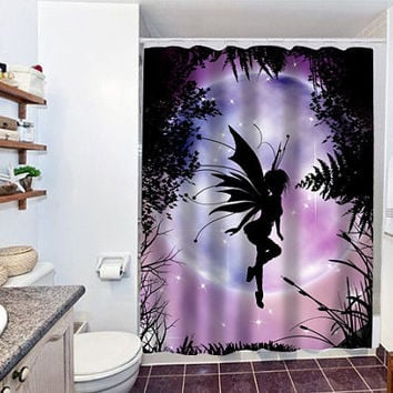 fairy moon special custom shower curtain