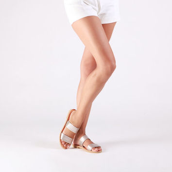 Leather sandals, Greek sandals, Sandals, Greek leather sandals, Boho sandals, Two strap sandals, Leather sandals women, MIRANDA