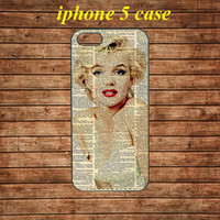 iphone 5 case,iphone 5 hard case,iphone 5 cover,iphone 5 hard cover---Marilyn Monroe,in plastic