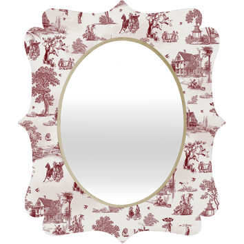 Belle13 Vintage Sunday Afternoon Quatrefoil Mirror