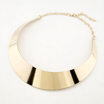 Chunky Necklace Gold Plated Silver Plated Punk Style Choker Necklace Jewelry Collier Necklaces For Women