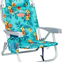 Tommy Bahama Backpack Cooler Chair with Storage Pouch and Towel Bar