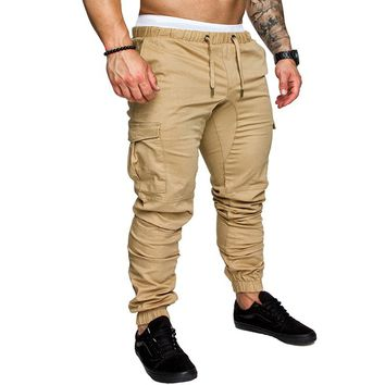 2018 Summer Men Leisure Causal Harem Pants New Fashion Hip Hop Chinos Trousers Joggers Cotton Sweatpants Elastic Cuff