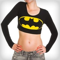Batman Junior Fitted Crop Top
