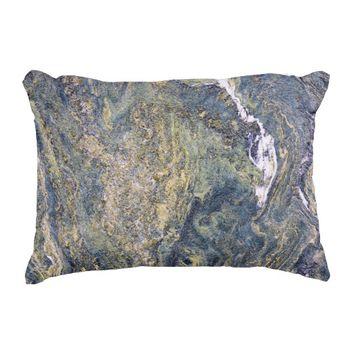 Rough Marble Wall Accent Pillow