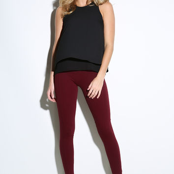 Banded Waist Cotton Jeggings