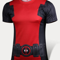 Deadpool Pattern Short Sleeve T-Shirt