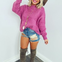 Bring On The Cold Sweater: Orchid