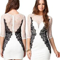 Elisa mini lace dress
