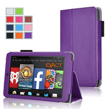 Exact PRO Full Protective Leather Folio Stand Case for Amazon Kindle Fire HD 6