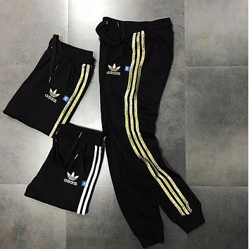 One-nice™ Adidas Original Woman Black Sports Casual Trousers Pants