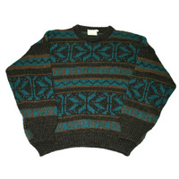 Vintage 90s Gaeltarra Wool Sweater Made in Ireland Mens Size Large