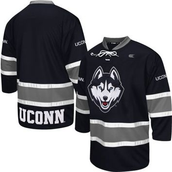 UConn Huskies Face Off Hockey Jersey – Navy Blue
