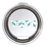 Mint Chevron Yeti Lid Decal Yeti Logo for Rambler or Tumbler - Any Color -  30oz - 20oz - Pattern - Mint - Preppy - Lid - Base - Logo