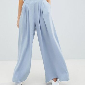 ASOS DESIGN Petite multi pleat palazzo pant at asos.com