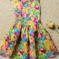 Cute oil painting net dress from Fanewant