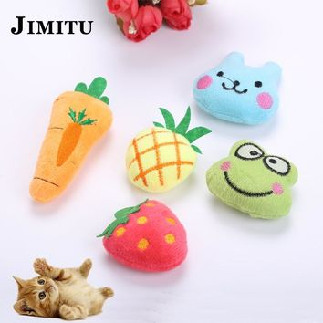 Pet Cat Toy Catnip Fruit Animal Soft Toy Funny Pets Scratch Playing Chew Catch Cat Toys Kitten Interactive Juguetes Para Gatos