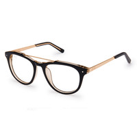 Cues Black Gold Clear Lens Reader Glasses