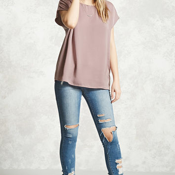 Satin V-Cut Back Top