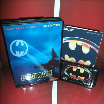 Batman Dark Knight gift Christmas Batman Japan Cover with Box and Manual for MD MegaDrive Genesis Video Game Console 16 bit MD card AT_71_6