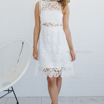 michelle lace dress - ivory