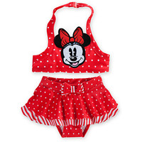 Minnie Mouse Red Swimsuit for Baby - 2-Piece