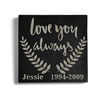 Customizable Love You Always Memorial Pet Stone