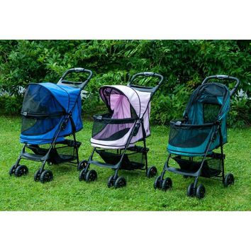 The No Zip Happy Trails Standard Pet Stroller by Pet Gear