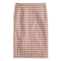 J.Crew Womens No. 2 Pencil Skirt In Jet-Set Geo