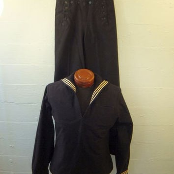 Vintage WWI Naval Seaman Uniform / Master at Arms / Navy / USN