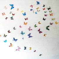 3D Realistic Wall Butterflies- set of 100