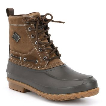 Men´s Decoy Waxed Canvas Waterproof Boot in Tan by Sperry - FINAL SALE
