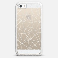Abstraction Outline White Transparent iPhone 5s case by Project M | Casetify