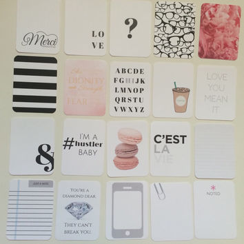 Office Chic Collection - Journaling Cards