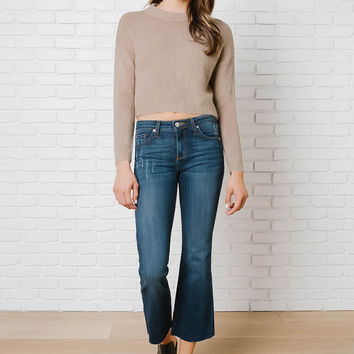 Daphne Cropped Knit Sweater