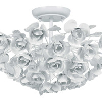 Milano 3-Light Semi-Flush Mount, White, Semi Flush Mounts