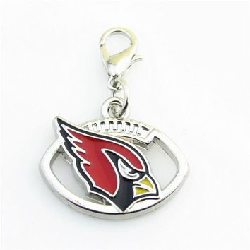 Soccer Ball Arizona Cardinals Sports Team Logo Dangle Floaitng Charms For Glass Memory Locket Necklace Pendant 20Pcs