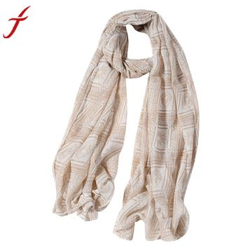 Feitong Luxury Brand New Women Ladies Flowers Print Pattern Long Scarf Patchwork Shawl Pashmina Blanket Wraps Female Scarves