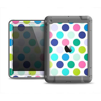 The Vibrant Colored Polka Dot V1 Apple iPad Mini LifeProof Fre Case Skin Set
