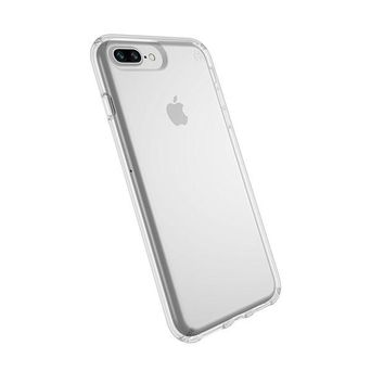 DCK4S2 Speck Products Presidio Clear Case for iPhone 8 Plus (Also fits 7 Plus and 6S/6 Plus), Clear/Clear