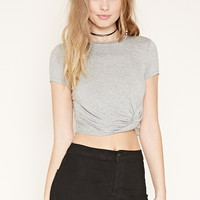 Twisted-Hem Crop Top | Forever 21 - 2000204785