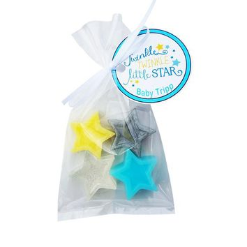 Twinkle Little Star Baby Shower Favors - Nursery theme soap, Love You to the Moon and Back custom made with Personalized Tags | Pack of 15
