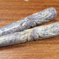 6'' Stone Chillum (Marijuana Leaf Design)