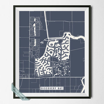 Discovery Bay Print, California Poster, Discovery Bay Map, Discovery Bay Poster, California Print, Street Map, Wall Art